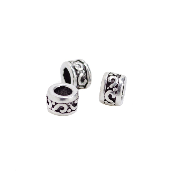 2 Pcs Vintage 925 Sterling Silver Spacer Bead for Jewelry Making