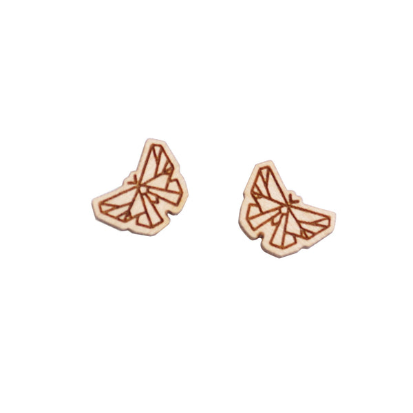 8 Pcs Wooden Butterfly Charm - Earring Supplies