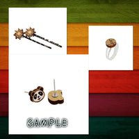 8 Pcs Character Charm - Wooden Jewelry Making Supplies