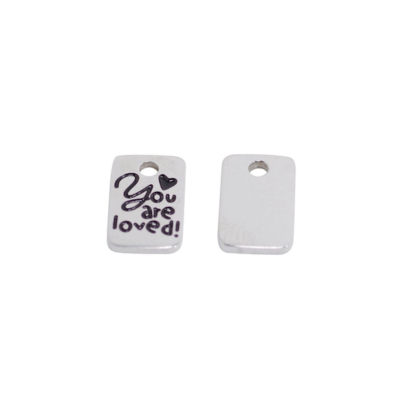 2 Pcs Stainless Steel Charm - You are loved