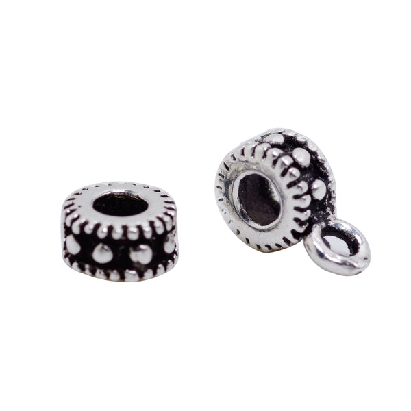 4 Pcs Vintage 925 Sterling Silver Spacer Bead