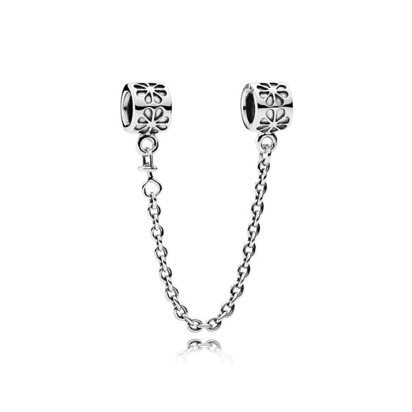 Daisy Flower Pandora Safety Chain Fits Pandora Bracelet