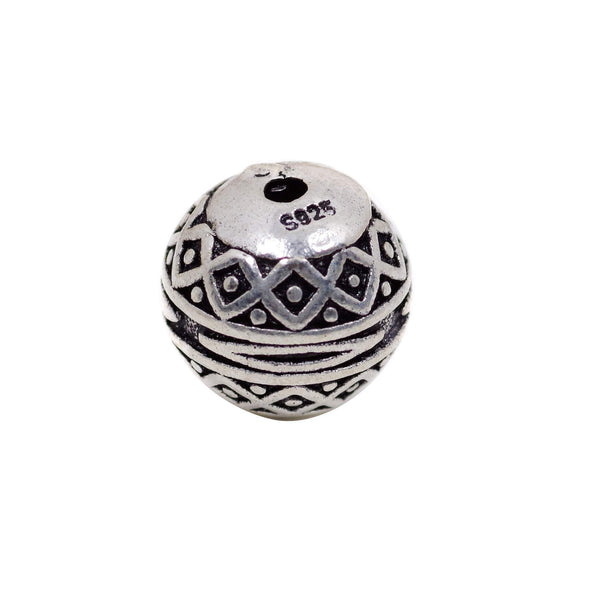 Vintage 925 Sterling Silver Round Spacer Bead