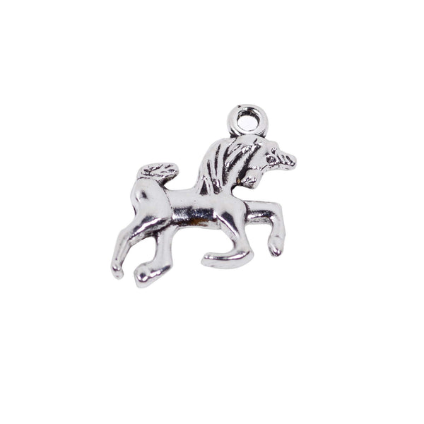 10 Unicorn Charms Antique Silver Tone Pendant