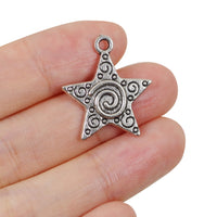 10 Pcs Star Charm Antique Alloy Jewelry Pendant