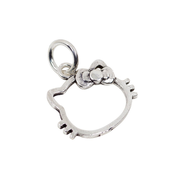 4 Pcs Vintage 925 Sterling Silver Hello Kitty Charm with Close Jump Ring