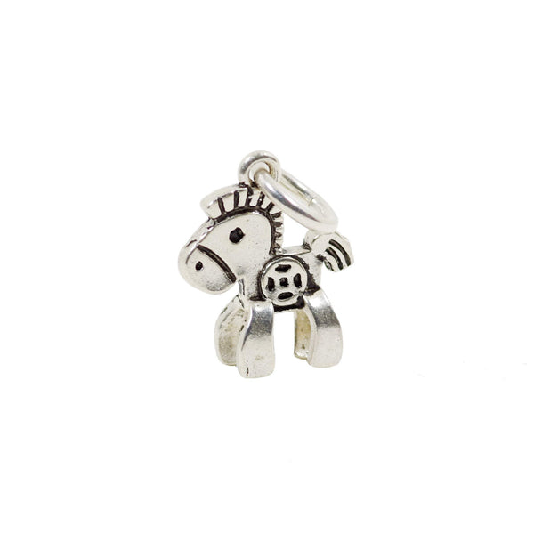 Vintage 925 Sterling Silver Horse Charm with Close Jump Ring