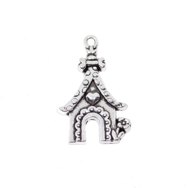 10 Sweet House Charms Antique Silver Tone Pendant