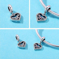 925 Sterling Silver  Mom Charm Bead for Bracelet Pendant