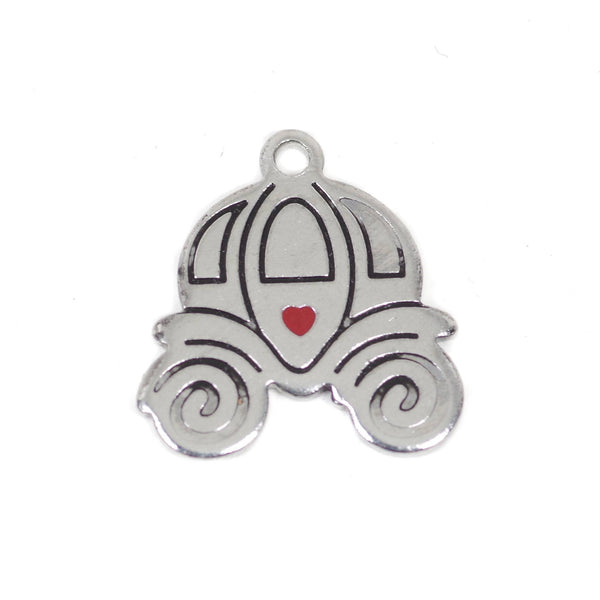 2 Pcs Pumpkin Car Stainless Steel Charm