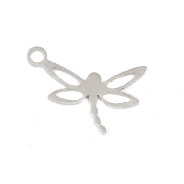 2 pcs Dragonfly Stainless Steel Charm