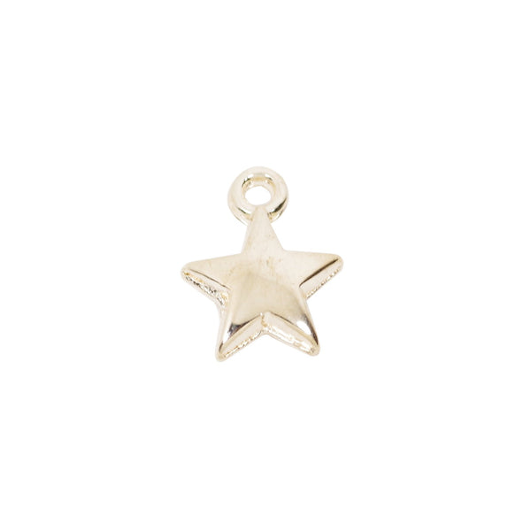 Bulk 20  Pcs Gold Plated Tiny Star Charm for Jewelry Making