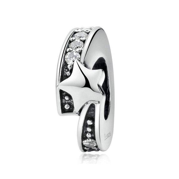 925 Sterling Silver Wishing Star Charm Bead for Bracelet Pendant