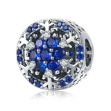 925 Sterling Silver Snowflake Charm Bead for Charm Bracelet Pendant