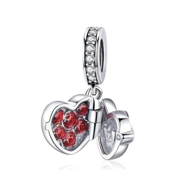 925 Sterling Silver Love Charm Bead for Charm Bracelet Pendant