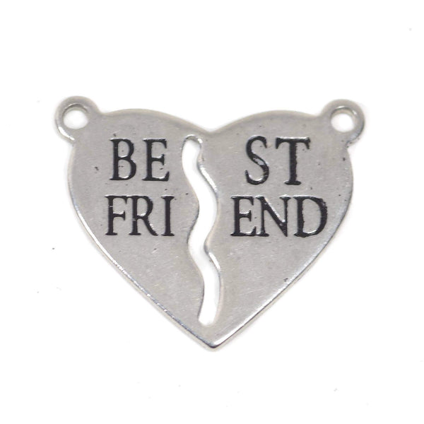 2 Pcs Stainless Steel Charm - Best Friend