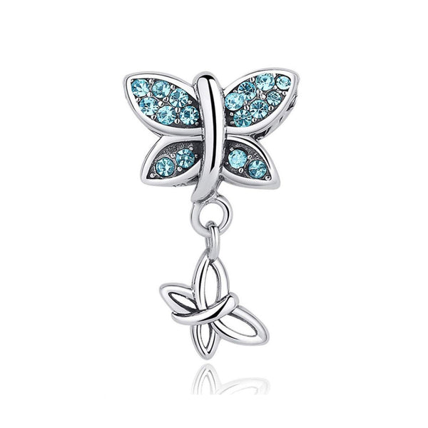 925 Sterling Silver Butterfly Charm Bead Fits Pandora Charm Bracelet Pendant