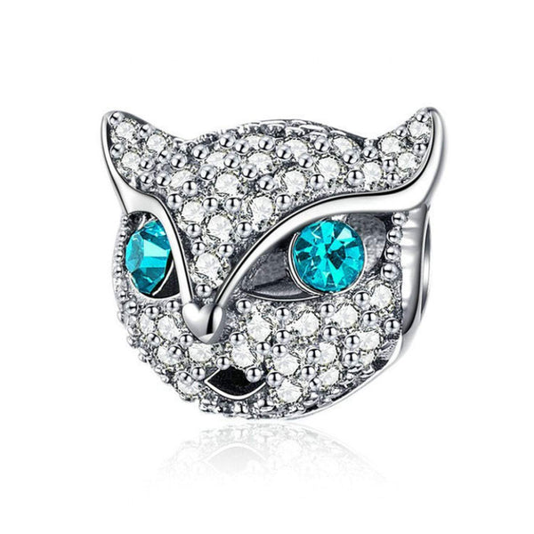925 Sterling Silver Cat Animal Charm Bead Fits Pandora Charm Bracelet Pendant