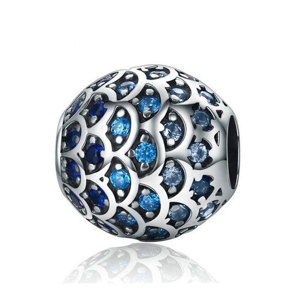 925 Sterling Silver Daughter of the Sea Charm Bead Fits Pandora Charm Bracelet Pendant