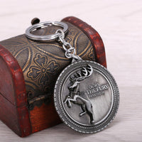 Game of Thrones Deer Key Chain House Baratheon of Storm's End Key Chain