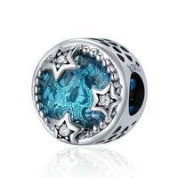 925 Sterling Silver Moon And Star Charm Bead Fits Charm Bracelet Pendant