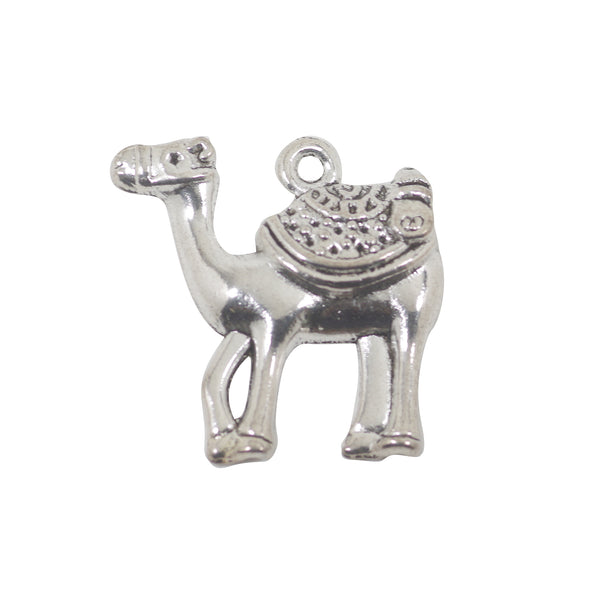 5 Camel Charms Antique Silver Tone Pendant 24mm x 24mm