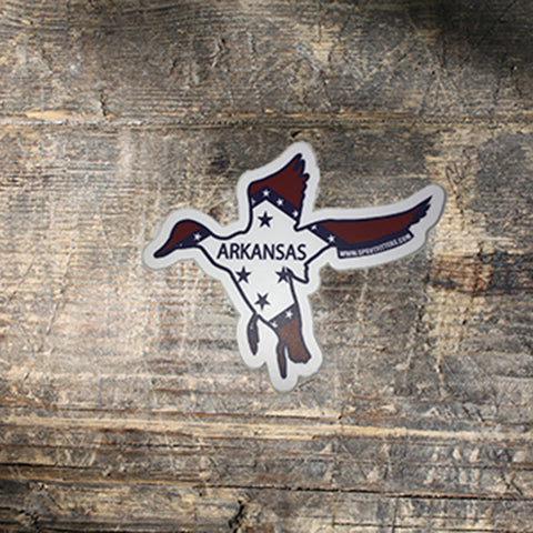 Arkansas Flag Duck Sticker
