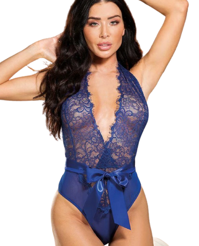 blue lace teddy