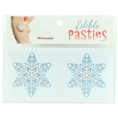 Edible Wintermint Snowflake Pasties
