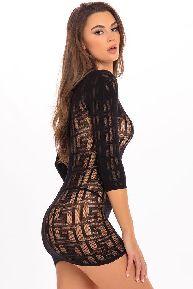 Exotic Geometry Mini Dress