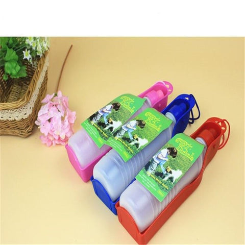 Image of Foldable Water Feeder Portable Pet Bowl Bottle