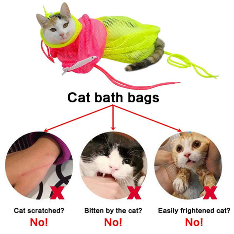 Image of Cat Grooming Adjustable Washing Bags
