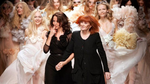 Sonia Rykiel with her daughter Nathalie, who has been managing and artistic director of the fashion house since 1995