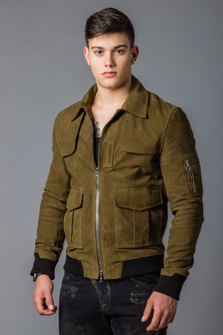 Suede Flight Jacket
