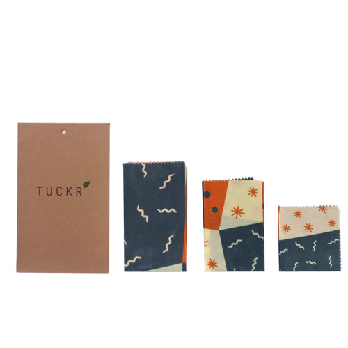Tuckr Beeswax Wrap - Squiggle