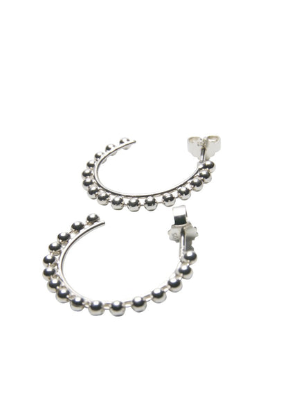 Bubble Hoops Silver Earrings