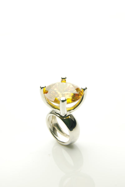 Yellow Jewel Cocktail Ring