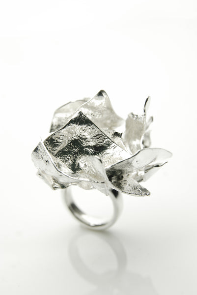 Scabrous Silver Ring