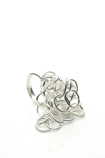 Heap of Chains Silver Ring