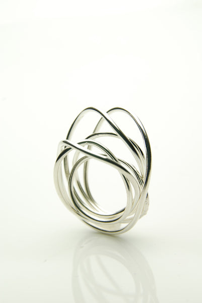 Encircled Silver Ring