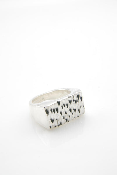 Jack of Diamonds Silver Ring