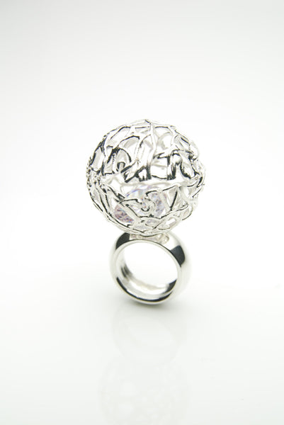 Kúla Silver Cocktail Ring