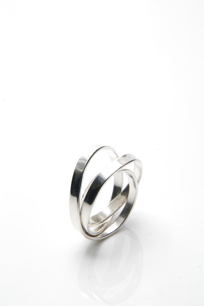 Fine Silver Ellipse Ring