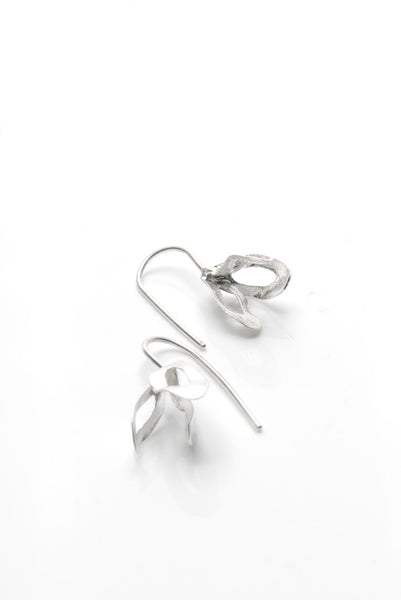 Deliquescent Strings Silver Earrings