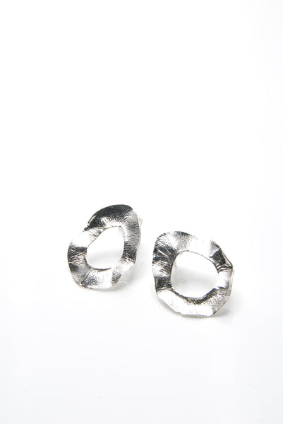 Simple Deliquescent Silver Earrings