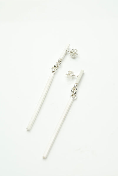 Ninja Silver Earrings