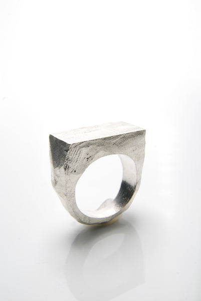 Cubic Silver Signet Ring