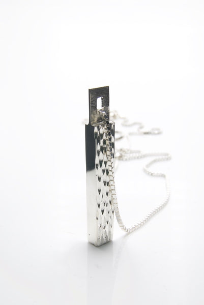 Jack of Diamonds Silver Pendant