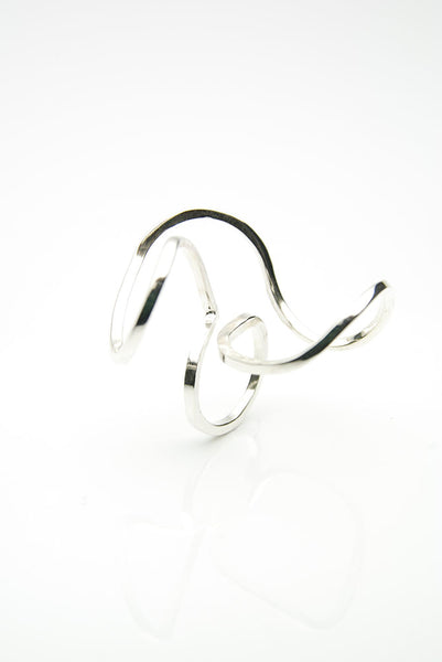 Twisted Silver Ring by Orr