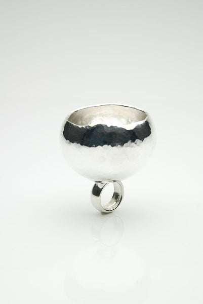 """Skál"" Silver Shot Ring"
